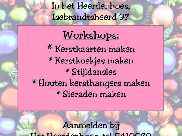 Kerstlunch met workshops