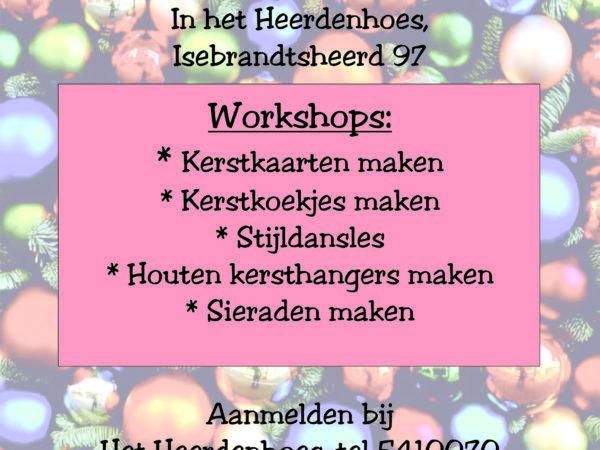 Kerstlunch met workshops