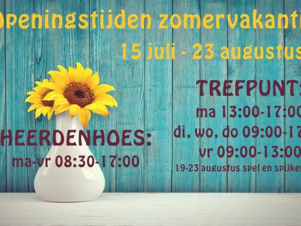 Openingstijden Trefpunt & Heerdenhoes