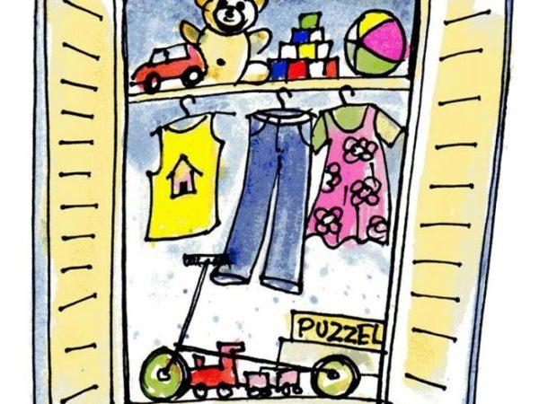 Tweedehands kinderkleding en speelgoed beurs.