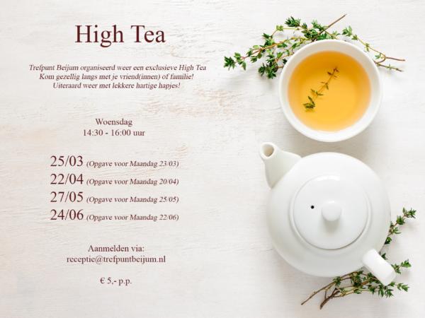 Tweede High Tea ook succes!