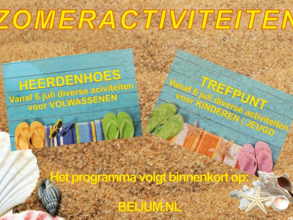 Activiteiten in de zomervakantie!