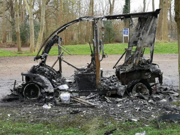 Heerdmobiel Beijum uitgebrand
