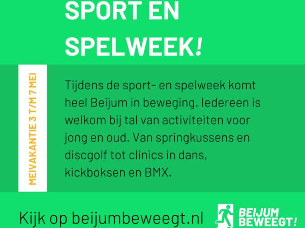 Doe mee met de sport en spelweek